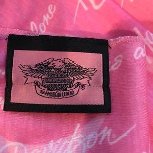 Harley - Davidson pink cancer awareness scarf